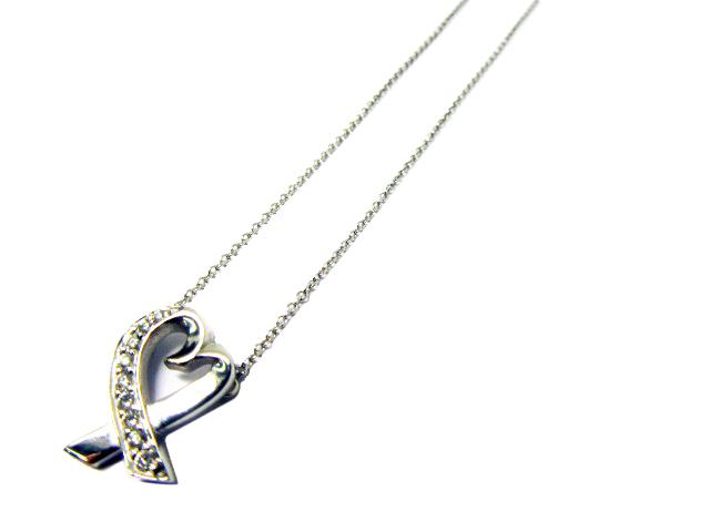 Loving Heart Pendant Necklace K18心型 鑽石 項鍊