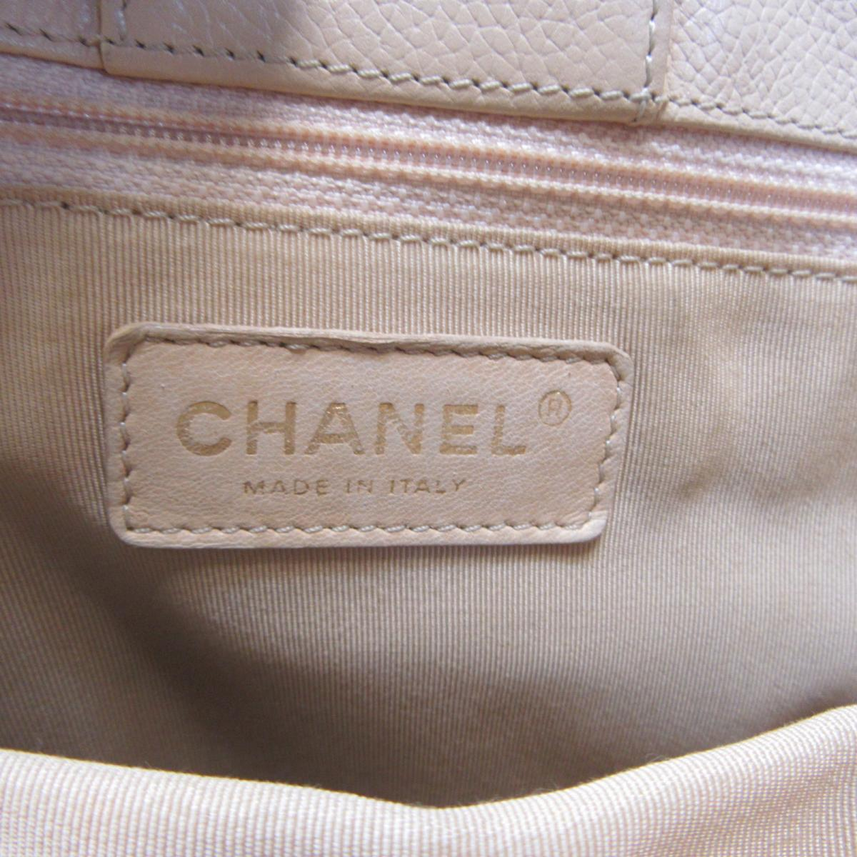 CHANEL バッグ  米色荔枝紋牛皮雙層肩背包 Cerf Executive Tote Bag