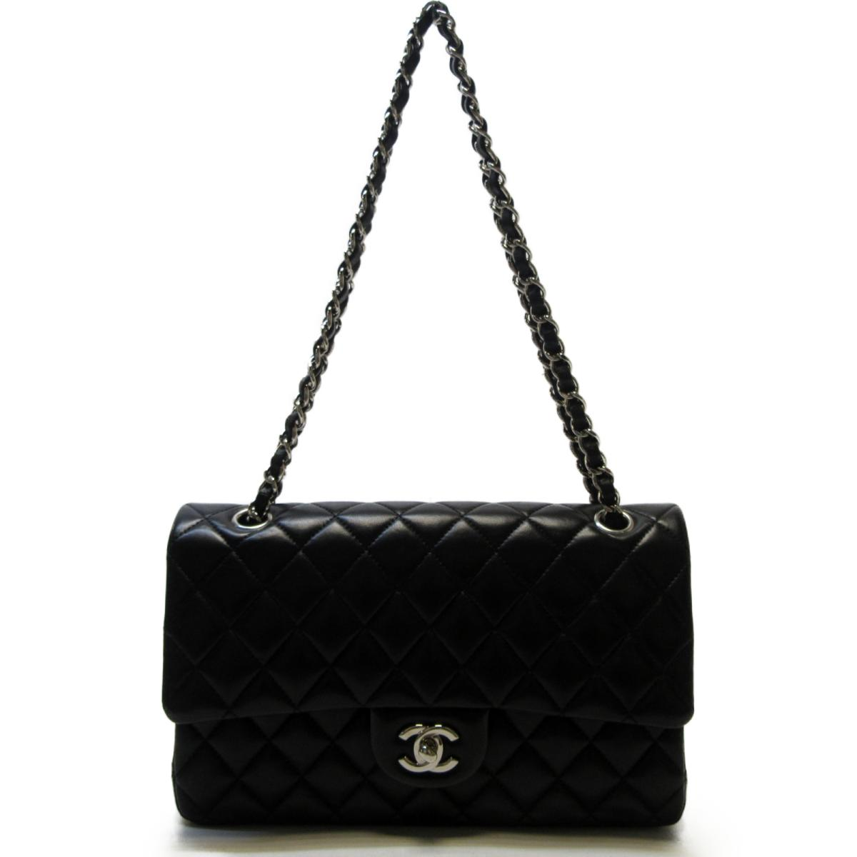 CHANEL バッグ  COCO25 菱格壓紋雙蓋銀鍊肩背包