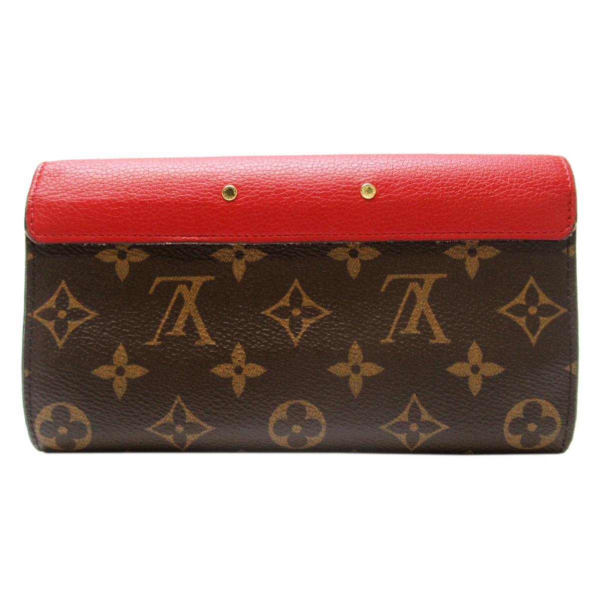 LOUIS VUITTON LV 路易威登 LOUIS VUITTON LV 路易威登 サイフ・小物 M58414 原花紅色牛皮二折長夾 Pallas Wallet M58414